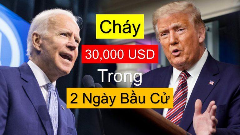 Cháy 30,000 USD Trong 2 Ngày Bầu Cử Tổng Thống Mỹ